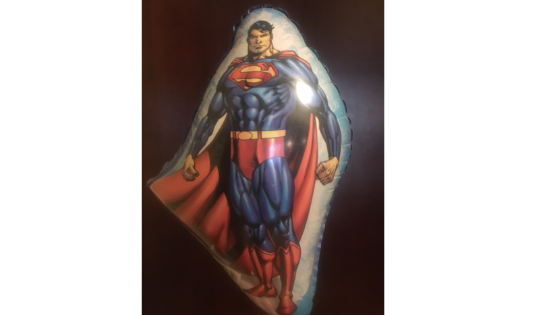image of a Superman balloon