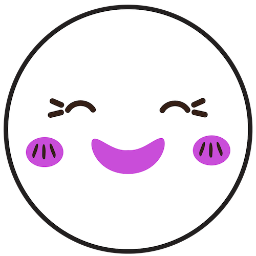 icon of a happy and content face